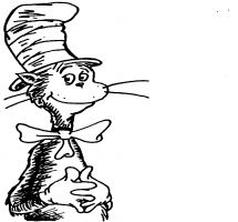 Cat In The Hat Black And White Clipart Free Download On