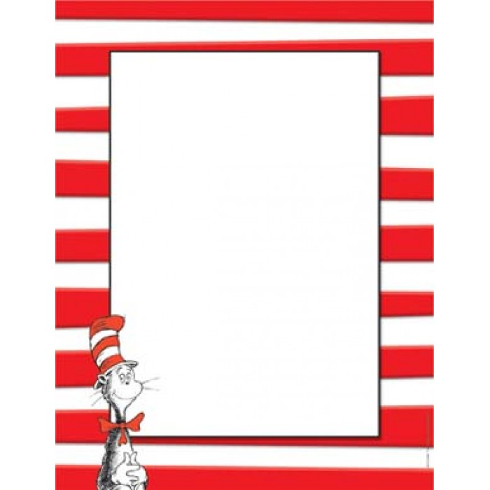 700x700 Computer Paper 50 Ct Dr. Suess Cat In The Hat Eureka