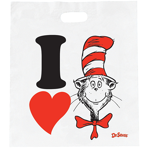 600x600 I Heart The Cat In The Hat Economy Book Bags