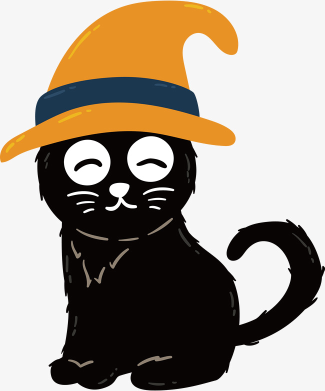 650x782 Lovely Witch Black Cat, Vector Png, Witch, Witch Cat Png