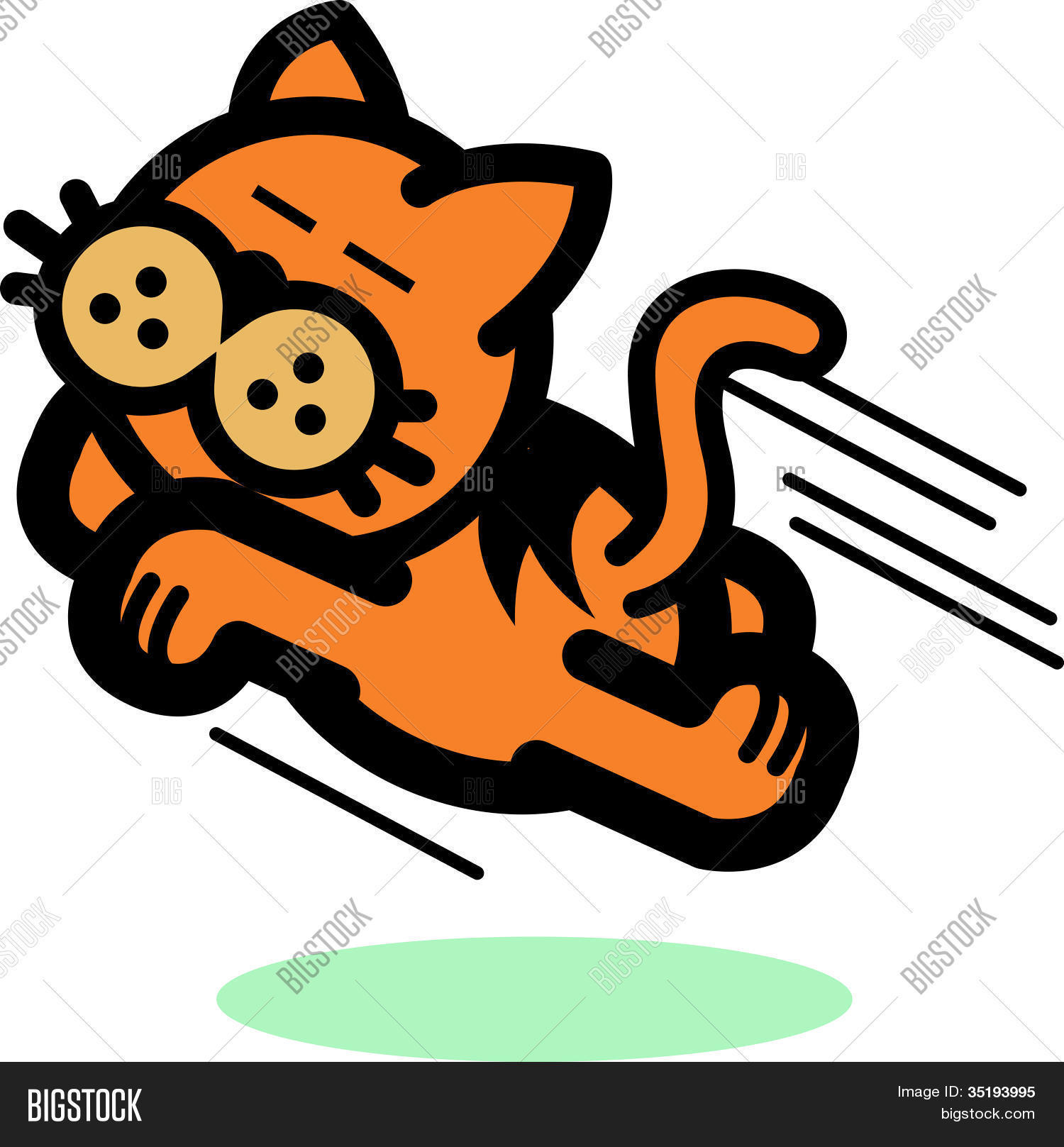 1500x1617 Cat Clip Art Running Jumping Vector Amp Photo Bigstock