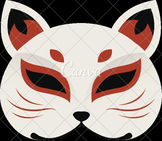 550x478 Japanese Cat Mask