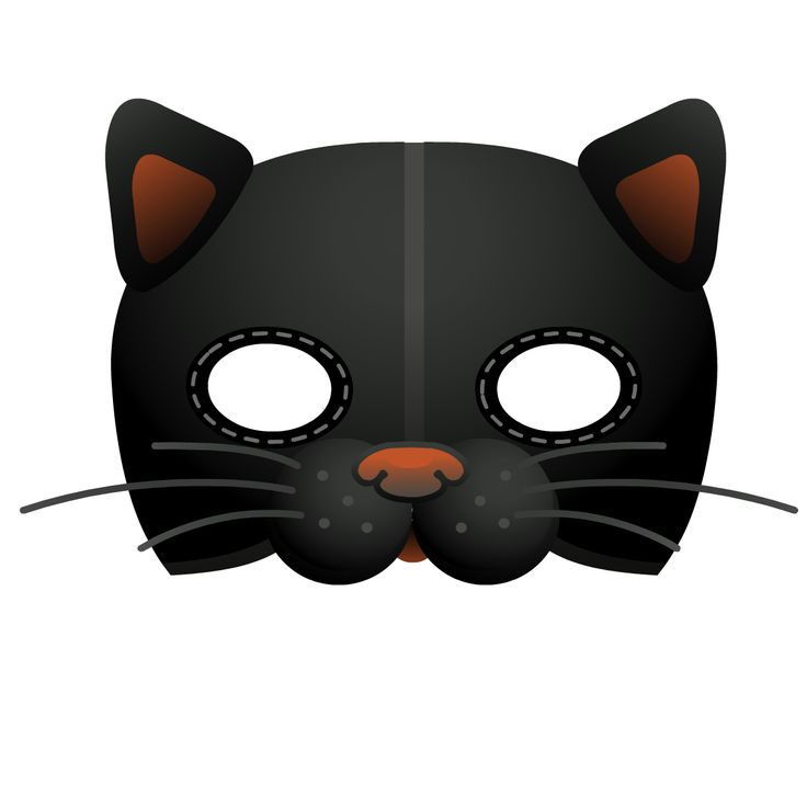 736x736 Mask Clipart Cat Face