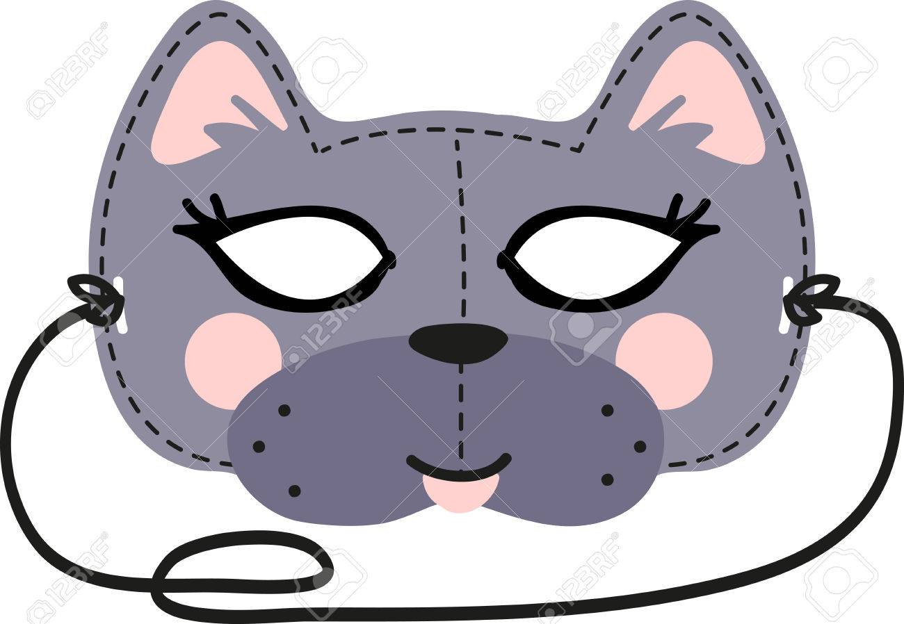 1300x898 This Fun Cat Mask Is Perfect For Children To Make For Halloween