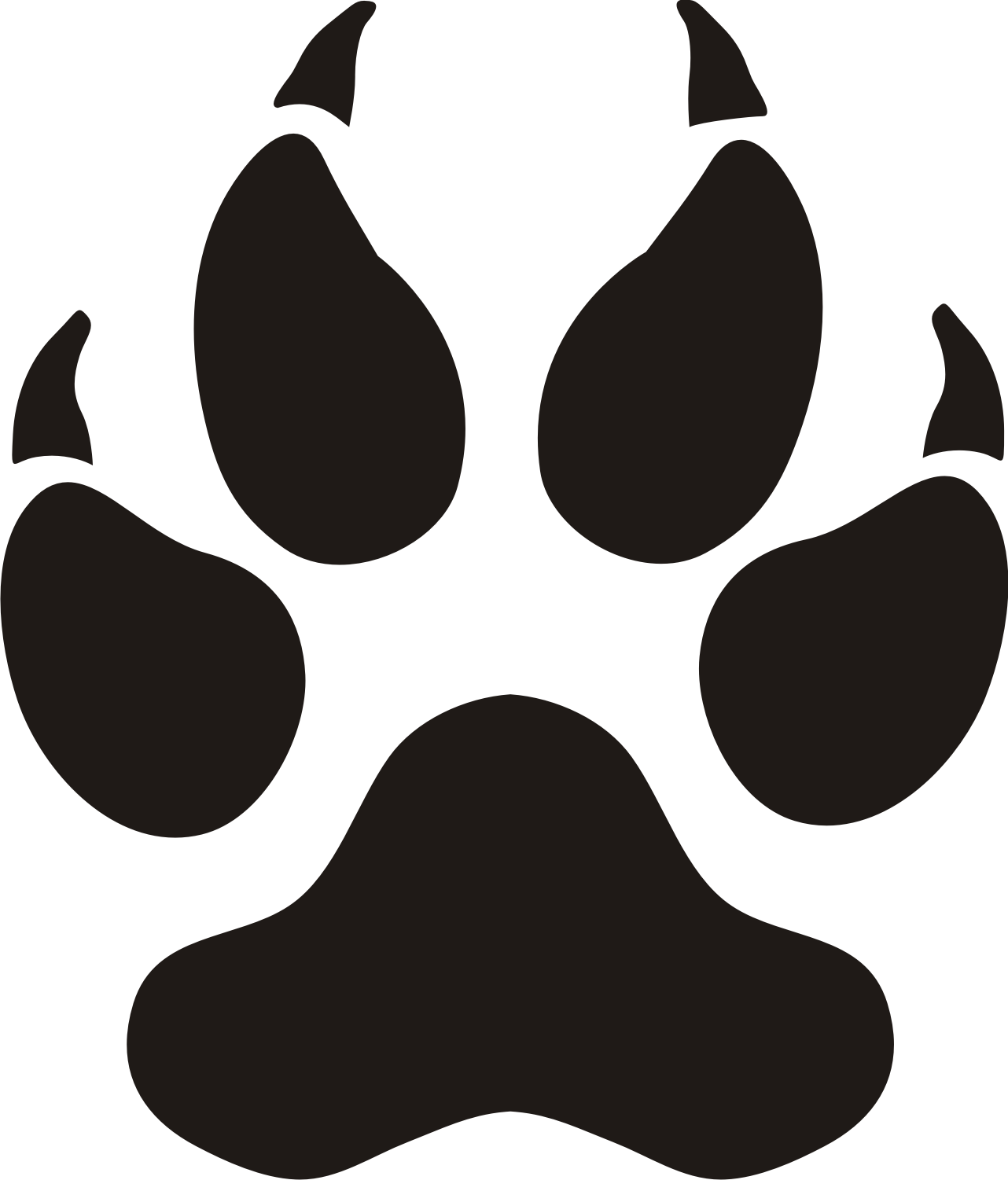 1282x1501 Wolf Paw Print Clip Art Many Interesting Cliparts