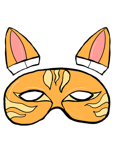 400x518 Cat Mask Color