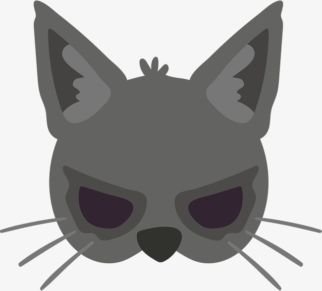 650x587 Gray Cat Mask, Vector Png, Mask, Gray Cat Png And Vector For Free