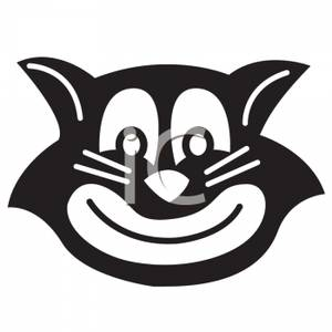300x300 Of A Black And White Smiling Cat Mask