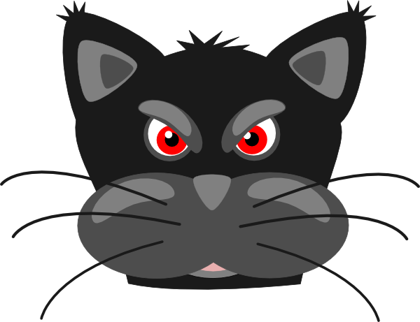 600x461 Angry Black Cat Clip Art