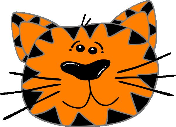 600x434 Cat Face Clip Art