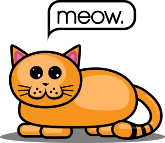 340x295 Meow Clipart