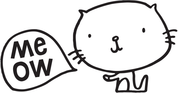 571x299 Meowing Clipart