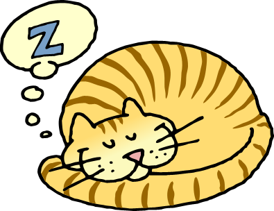 395x304 Cat Clipart Asleep