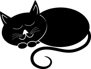 300x227 Black Cat Clipart Cat Nap 2491533