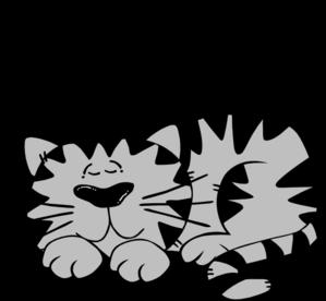 299x276 Black Cat Clipart Cat Nap