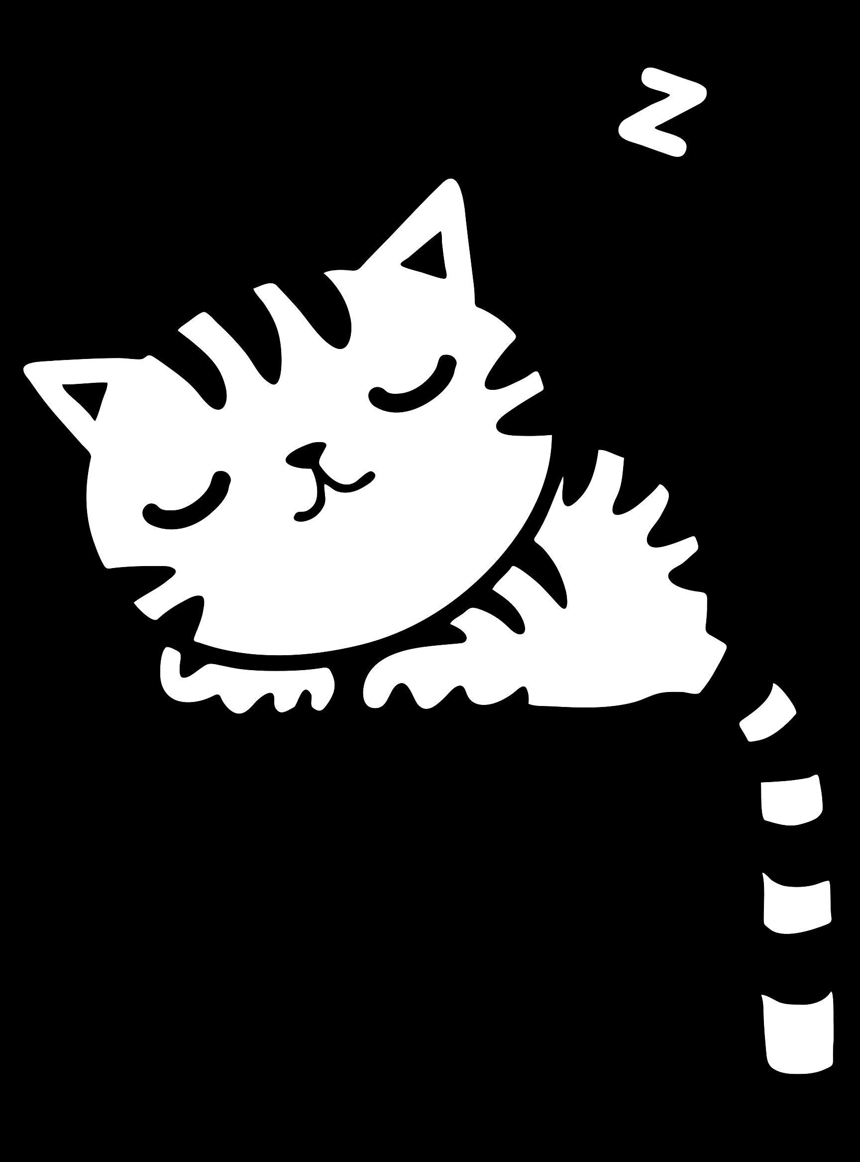 1728x2334 Black Cat Clipart Sleepy Cat