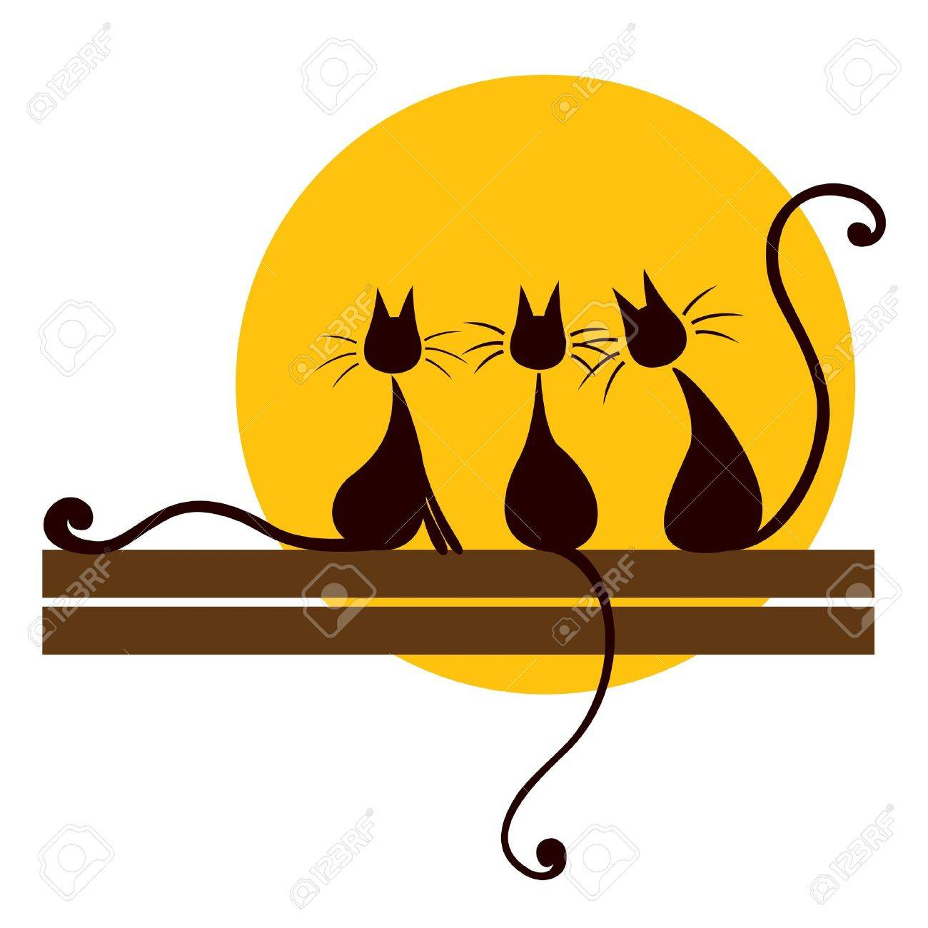 Cat On Mat Clipart