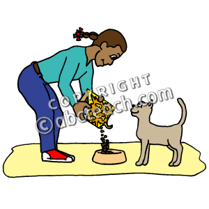 300x300 Cat Eating Clipart