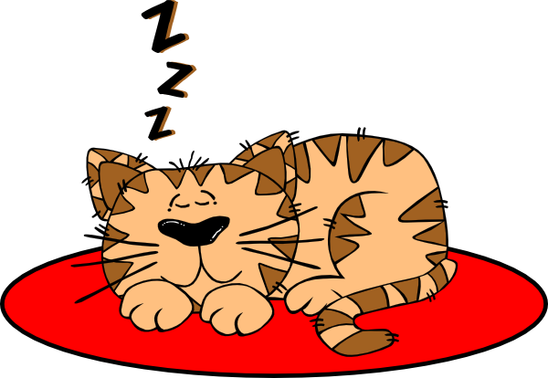 600x414 Cat On A Mat Clip Art