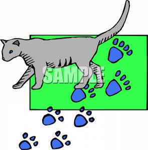 295x300 Cat On A Mat Clipart