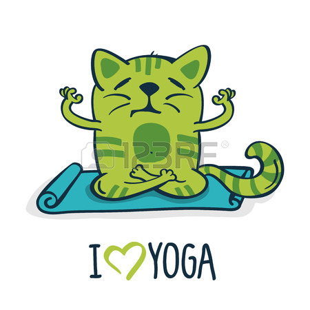 450x450 330 Cats Yoga Cliparts, Stock Vector And Royalty Free Cats Yoga