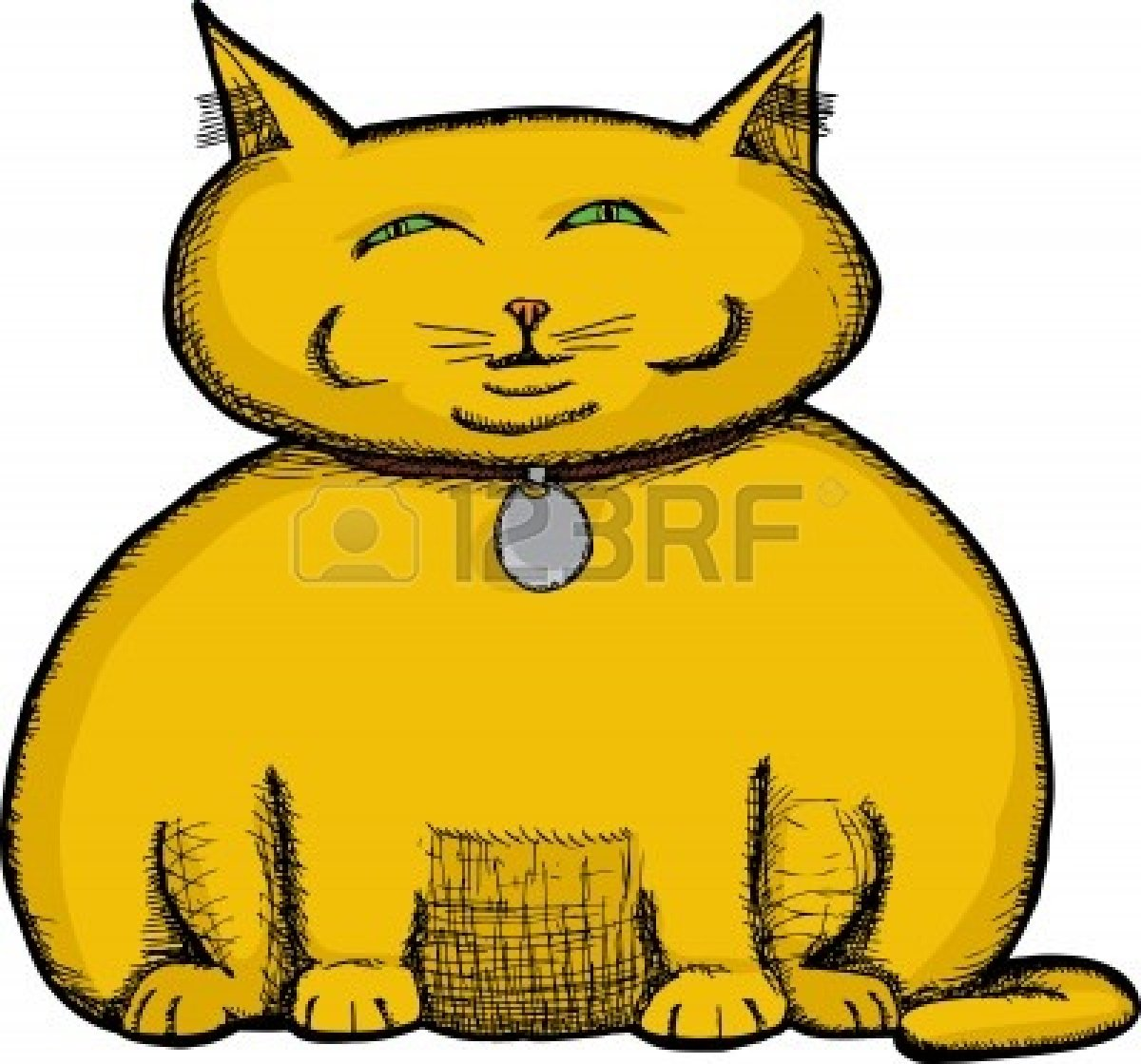 1200x1119 A Fat Cat Clipart