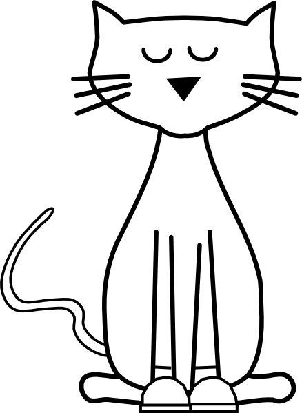 Cat outline. Cliparts free download best