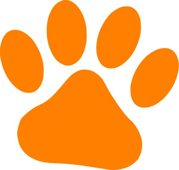 600x571 Orange Cat Paw Clip Art