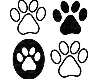340x270 Dog Paw Prints Cat Paw Print Clipart 2
