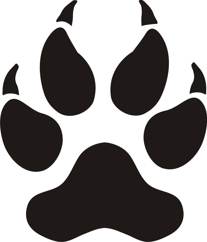 1282x1501 Panther Paw Print Clip Art Clipart 2 Clipartix