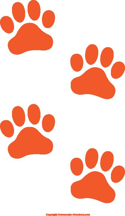 417x723 Paw Prints Cat Paw Print Clip Art Image Freevectors Clipart