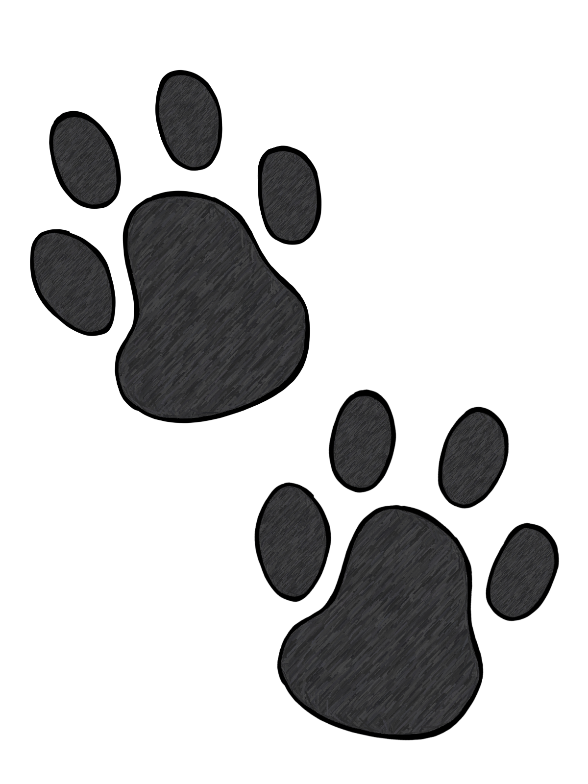 1200x1600 Gallery For Free Cat Paw Prints Clip Art Clipartcow
