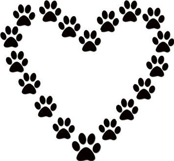 355x329 Best Paw Print Clip Art Ideas Paw Print Drawing
