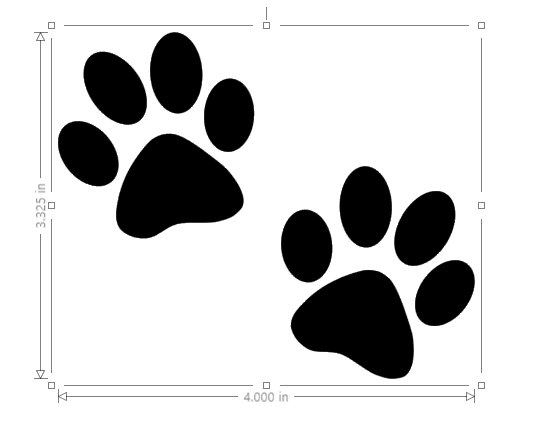 541x439 Paw Print Decal Dog Paw Prints Cat Paw Print Yeti Decal