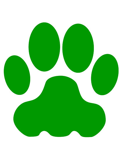 413x550 Big Cat Clipart Bear Paw Print