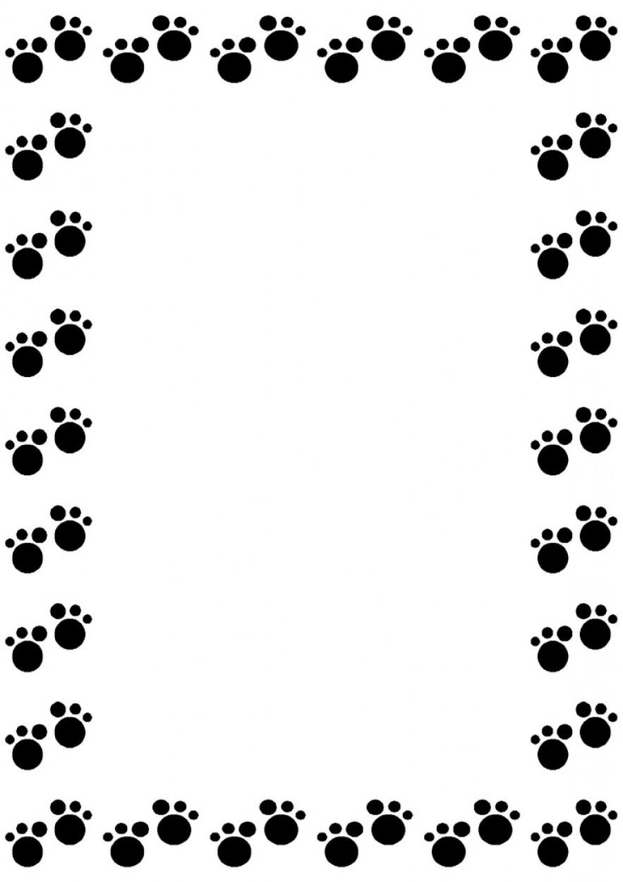 883x1249 Paw Print Clip Art Border 101 Clip Art
