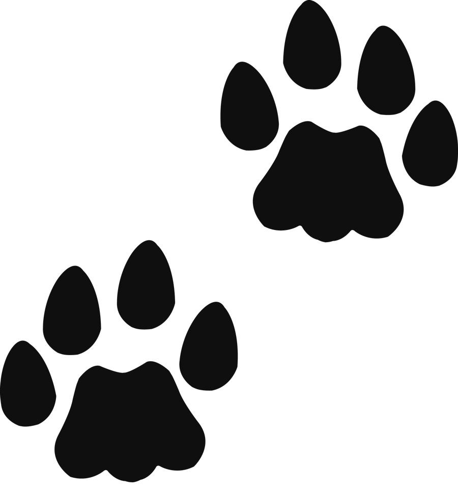 900x971 Paw Prints Cat Paw Print Clip Art Image Freevectors Clipart