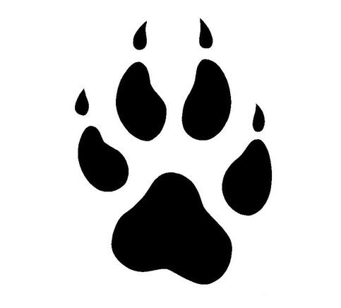 483x436 Wolf Paw Print Clip Art
