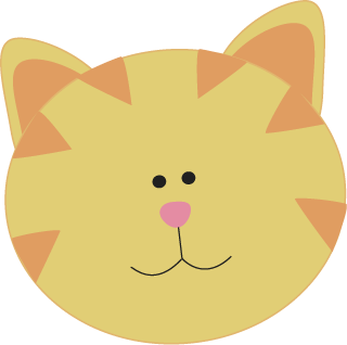 320x318 Cat Face Clip Art Yellow Cat Face