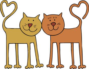 352x276 2 Cats Clipart