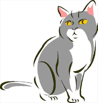 334x350 Free Cat 1 Sitting Clipart