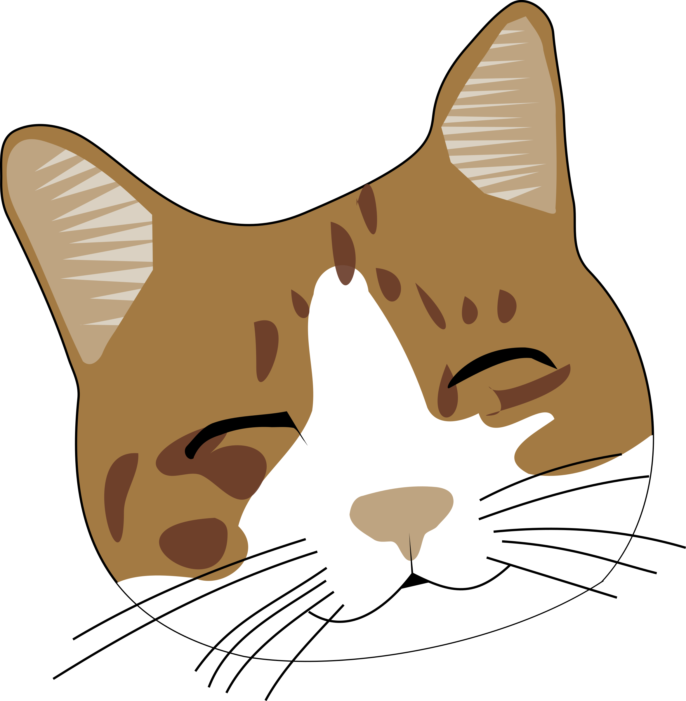 2349x2400 Smile Clipart Cat Cartoon
