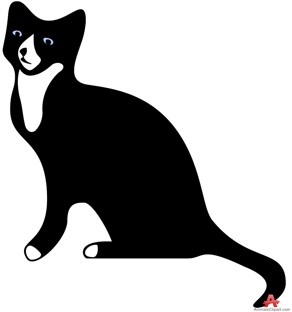 933x999 Black Cat With White Chest Clipart Free Clipart Design Download