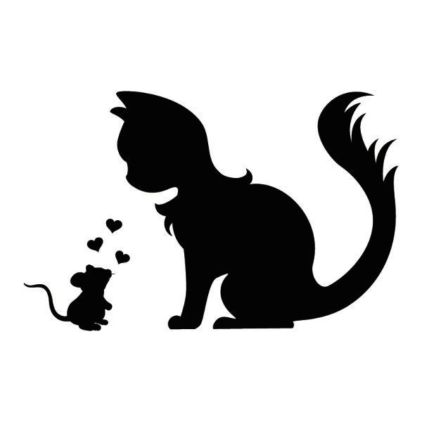 600x600 163 Best Silhouettes Cat Silhouettes Images