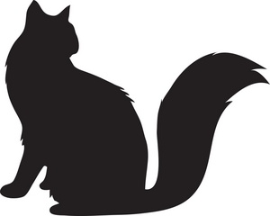 300x240 Sitting Cat Silhouette Clipart