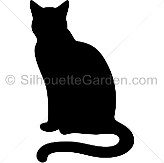 336x334 Sitting Cat Silhouette Clip Art. Download Free Versions
