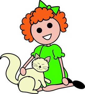 273x300 Free Girl And Cat Clipart Image 0515 1004 1303 0843 Computer Clipart