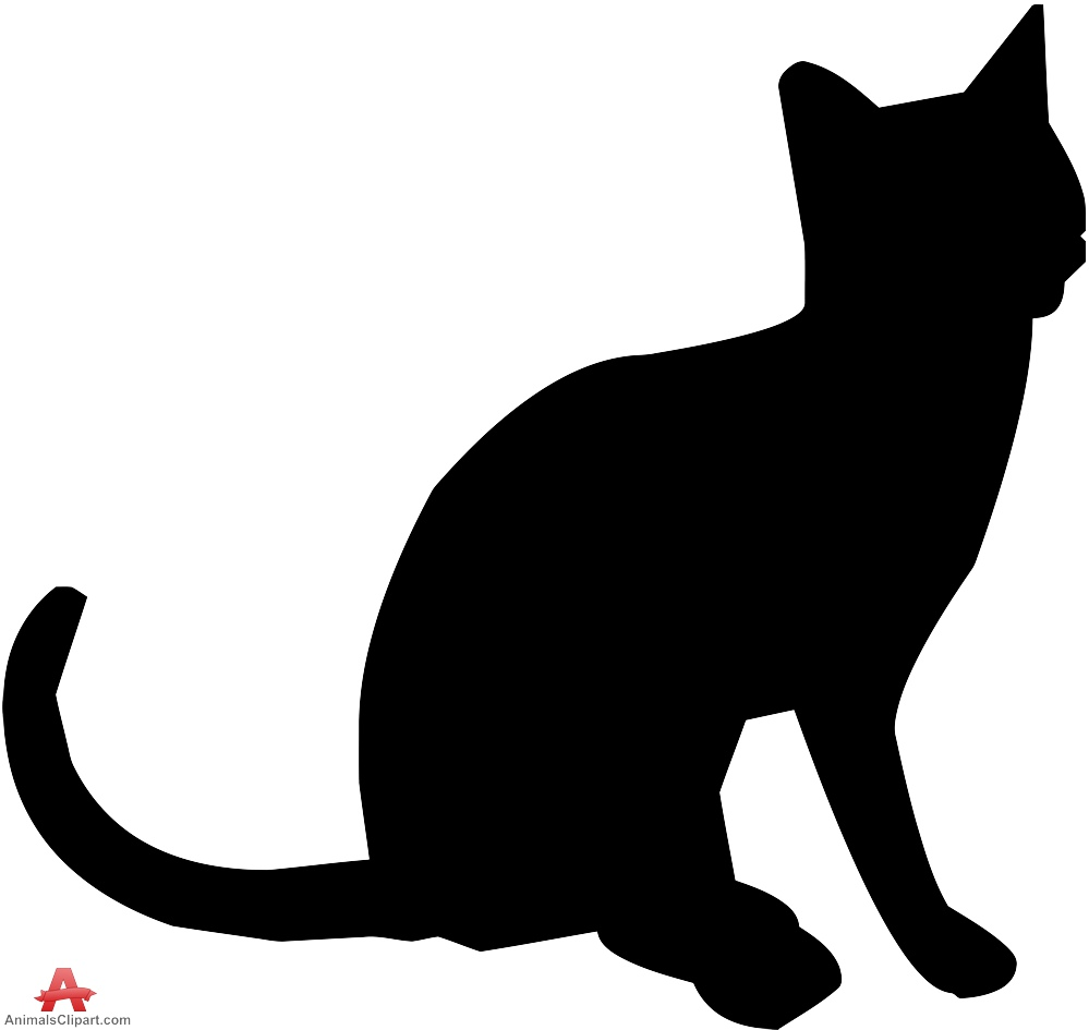 999x945 Small Cat Sitting Silhouette Free Clipart Design Download