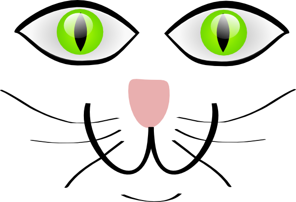 600x410 Cat Face Features Clip Art
