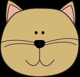 262x250 Cat Head Clip Art